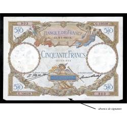 50 Francs - Luc Olivier Merson Sans signature  - 1930-1934 - Belle qualité