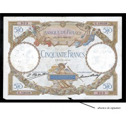 50 Francs - Luc Olivier Merson Sans signature - 1930-1934 - Qualité courante