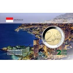 Monaco 2021 Vue aérienne - Carte commémorative