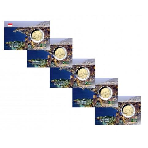 Lot x5 Monaco 2021 Vue aérienne - Carte commémorative