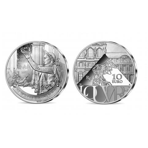 France 2021 - Louvre - 10 euros argent BE