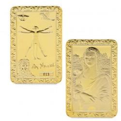 La Joconde - Lingot doré or 24 carats