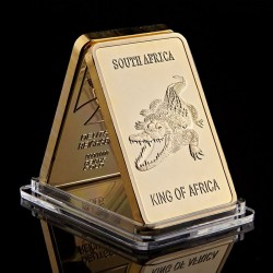 Crocodile - Lingot doré or 24 carats