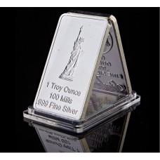 Statue de la liberté - Lingot argenté 999/1000