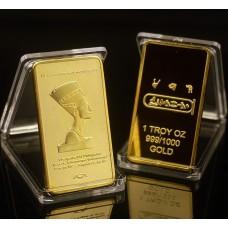 Cléopatre - Lingot doré or 24 carats