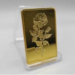 La rose - Lingot doré or 24 carats