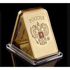 Russie - Lingot doré or 24 carats