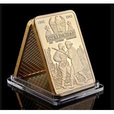 2ème guerre mondiale - Lingot doré or 24 carats