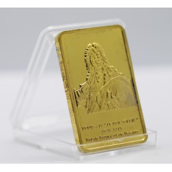 Louis XIV - Lingot doré or 24 carats