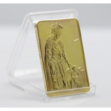 Saint Florian - Lingot doré or 24 carats