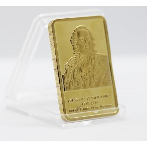 Louis XV - Lingot doré or 24 carats