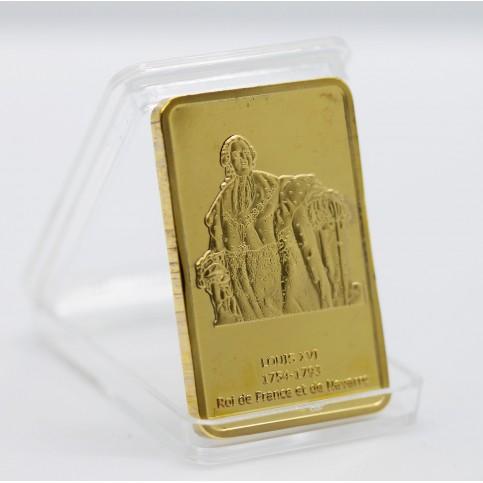 Louis XVI - Lingot doré or 24 carats