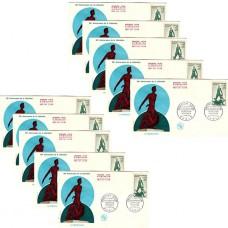 x10 enveloppes 1er jour -Anniversaire de la libération