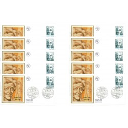 x10 enveloppes 1er jour - Marie Noël