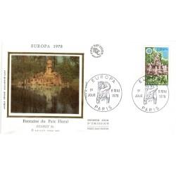 Enveloppe 1er jour - Europa - Fontaine du Parc Floral