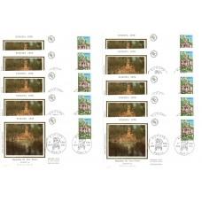 x10 enveloppes 1er jour - Europa - Fontaine du Parc Floral