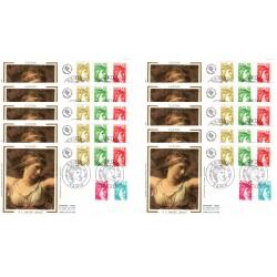 x10 enveloppes 1er jour - Sabine