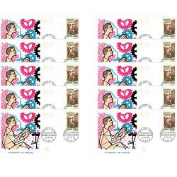 x10 enveloppes 1er jour - Reclassement des paralysés