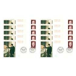 x10 enveloppes 1er jour - Georges MANDEL