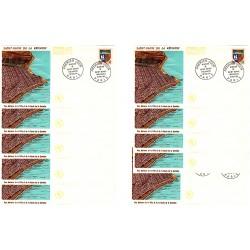 x10 enveloppes 1er jour - Saint Denis de la Réunion