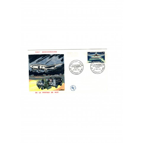 Enveloppe 1er jour - 25ème anniversaire du service aéropostale