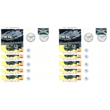 x10 enveloppes 1er jour - 25ème anniversaire du service aéropostale