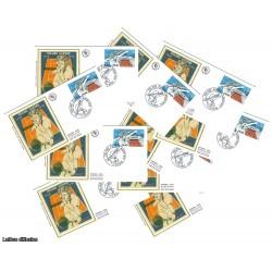 x10 enveloppes 1er jour - Roland Garros