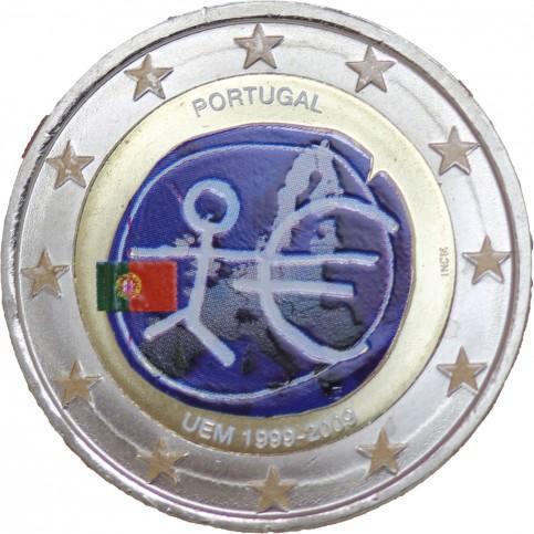 Portugal 2009 10 ans - 2 euro commémorative en couleur