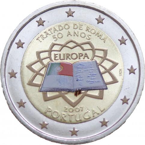 Portugal 2007 Traité de Rome - 2 euro commémorative en couleur