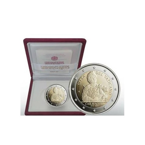 BE Vatican 2021- 2 euro commémorative Caravage