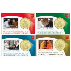 Vatican 2021 : Collection complète 4 Coincard 50 cts Pape François