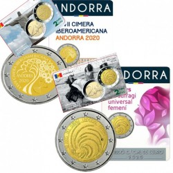 Lot de 2 pièces Andorre 2020 - 2 euro commémorative