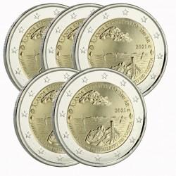 Lot de 5 pièces Finlande 2021 - 2 euro commémorative Aland