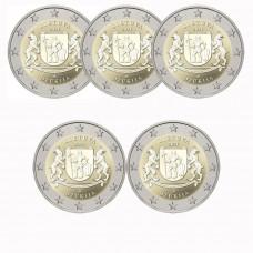 Lituanie 2021 - 5 X 2 euro commémorative Dzukija