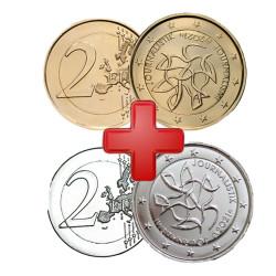 2 euros Finlande 2021 Dorée OR Fin 24 carats et Argentée