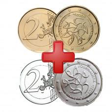 2 euros Finlande 2021 Dorée OR Fin 24 carats et Argenté