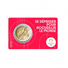 """France 2020 - 2 euro commémorative """"PARIS 2024"""" vert"""
