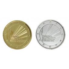 2 euros Portugal 2021 Présidence dorée+argentée
