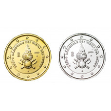 2 euros Italie 2020 Pompiers dorée+argentée