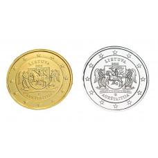 2 euros Lituanie 2020 Aukstaitija+dorée+argentée