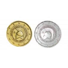 2 euros Grèce 2020 Termopyles dorée+argentée