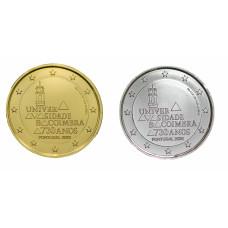 2 euros Portugal 2020 Coimbra dorée+argentée