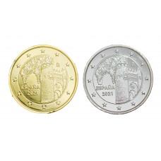 2 euros Espagne 2021 Tolede dorée+argentée