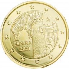 Espagne 2021 Tolede - 2 euro dorée à l'or fin 24 carats