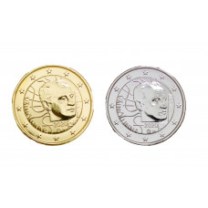 2 euros Finlande 2020 Vaino dorée+argentée