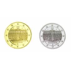 2 euros Allemagne 2020 Brandebourg dorée+argentée