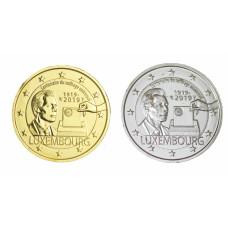 2 euros Luxembourg 2019 Suffrage dorée+argentée