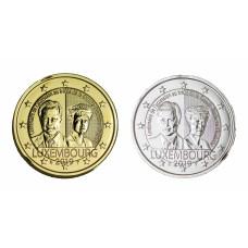 2 euros Luxembourg 2019 Charlotte dorée+argentée