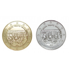 2 euros Malte 2012 dorée+argentée