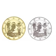 2 euros Luxembourg 2012 dorée+argentée